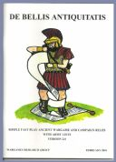 WRG: De Bellis Antiquitatis (DBA) Ancients Wargame Rules Version 2.0 Feb 2001